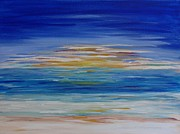 Most Popular Painting Originals - Lively seascape by Tatjana Popovska