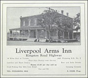 Kingston Digital Art Prints - Liverpool Arms Inn ca 1931 Print by Pickering Ontario