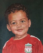 Liverpool  Paintings - Liverpool man. by Kevin Hopkins