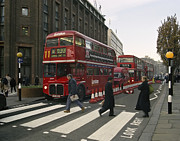 Crosswalk Prints - Liverpool Street Station Bus - London Print by Daniel Hagerman