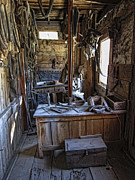 Horse And Buggy Framed Prints - Livery Stable Work Area - Virginia City Ghost Town - Montana Framed Print by Daniel Hagerman