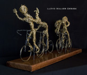 Bicycle Sculptures - Livestrong by Lloyd  Walker