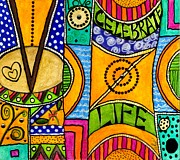 Living A Vibrant Life Print by Angela L Walker