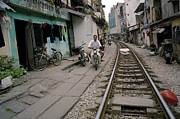 The Ghetto Posters - Living By The Tracks In Hanoi Poster by Shaun Higson