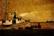 Shrimp Boat Photos - Living in the past by Susanne Van Hulst