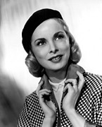 Beret Prints - Living It Up, Janet Leigh, 1954 Print by Everett