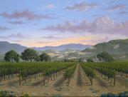 Napa Valley Vineyard Paintings - Living the Dream by Patrick ORourke