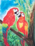 Parrot Pastels Prints - Living The Good Life Print by Nikki Gauthier