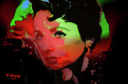 Elizabeth Taylor Framed Prints - Liz - A Place in the Sun Framed Print by Tony Marquez
