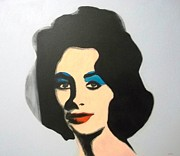 Warhol Painting Originals - Liz after Warhol by Paul Bokvel Smit