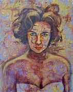 Elizabeth Taylor Painting Originals - Liz by Barbara Able