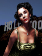 Portraits Metal Prints - Liz Taylor Metal Print by Virginia Palomeque