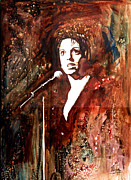 Musicians Painting Originals - Liza by Marcelo Neira