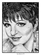 Hand Drawings Framed Prints - Liza Minnelli in 2006 Framed Print by J McCombie