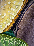 Bedroom Art Prints - Lizard Skin Abstract III Print by Irina Sztukowski
