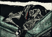 Black Lab Mixed Media - Lizzie the Dog by Robert Goudreau