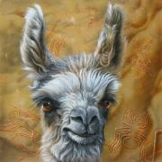Portraiture Tapestries Textiles - Llama Baby by Jurek Zamoyski