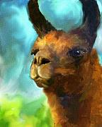 Llama Art - Llama Portrait by Jai Johnson