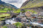 Stream Digital Art Prints - Llanberis Pass Print by Adrian Evans