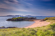 Gravel Framed Prints - Llanddwyn Beacon Framed Print by Adrian Evans