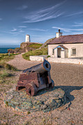 Building. Home Prints - Llanddwyn Cannon Print by Adrian Evans