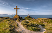 Landscape Digital Art Metal Prints - Llanddwyn Island Metal Print by Adrian Evans