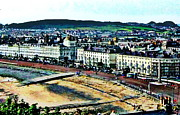 North Sea Pastels Prints - Llandudno North Shore  Print by Sue Gardner
