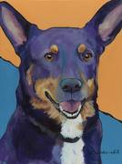 Canvas Dog Prints Prints - Llano Print by Pat Saunders-White            