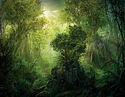 Enchanted Forest Posters - Llanowar Reborn Poster by Philip Straub