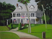 Guest Painting Prints - Llittle River Inn Print by Robert Rohrich