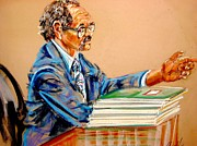 Lawyers Paintings - Lloyd Barbee by Les Leffingwell