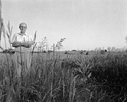 Owner Photo Originals - Lloyd Owens on his Farm by Jan Faul