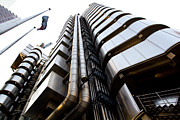 Elevation Framed Prints - Lloyds Building London  Framed Print by David Pyatt