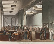 Financial Prints - Lloyds Subscription Room Where Print by Everett