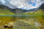 Summer Digital Art Metal Prints - Llyn Idwal Metal Print by Adrian Evans