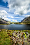 Summer Digital Art Metal Prints - Llyn Idwal Lake Metal Print by Adrian Evans
