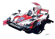 Race Drawings Originals - LMP2 Greaves Ordonez by Tomasz Boguslawski
