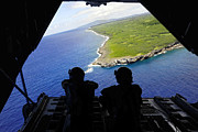 Airplane Photos - Loadmasters Look Out Over Tumon Bay by Stocktrek Images