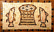 Loaves And Fishes Mosaic Print by Lou Ann Bagnall