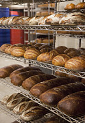 Loaves Framed Prints - Loaves of Bread at a Bakery Framed Print by Inti St. Clair
