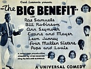 Performances Prints - Lobby Card For The Big Benefit Shows Print by Everett