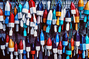 Buoy Prints - Lobester trap bouys Print by Garry Gay