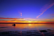 Get Away Photos - Lobster boat at sunrise. by John Greim