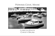 Southern Maine Posters - Lobster Boats Poster by Christy Bruna