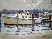 Lobster Boat Framed Prints - Lobster Boats in Shark River Framed Print by Donald Maier