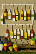 Tourist Industry Photos - Lobster Buoys For Sale, North Rustico by John Sylvester