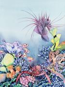 Lionfish Paintings - Lobster Cove by Mary Lucas Faustine - Printscapes