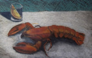 Dinner Pastels - Lobster Exercise by Becky Chappell