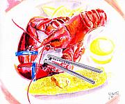 Lobster Platter Print by John Keaton