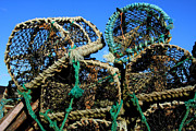 Lobster Pots Framed Prints - Lobster Pots Framed Print by Aidan Moran